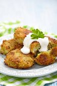 Vegetable pancakes with potato and brussel sprouts
