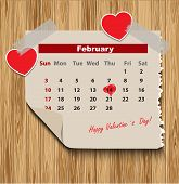 Valentines day in calendar