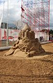 Perm - June 10: Sand Sculpture Omar Khayyam By Konstantin Siryachenko At Festival White Nights, On J