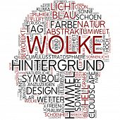 Info-Text-Grafik - Wolke