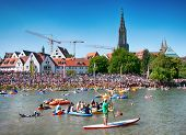 ULM, GERMANY - 22 JULY 2013: Traditional NABADA water carnival festival on 22nd July 2013 in Ulm, Ge