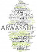 Word cloud - wastewater