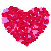 Heart Made Of Color Paper Hearts