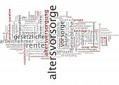 Word cloud - pension