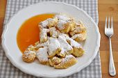 Kaiserschmarrn - German pancakes with applesauce