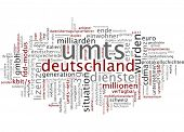 Word cloud - UMTS