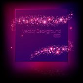 Vector banner surrounded by lights and sparkles