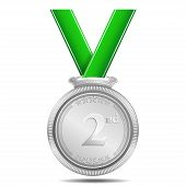 Silver Medal 2nd Position Vector
