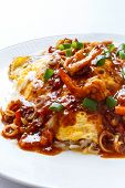 Thai Omelette With Spicy Sour Sauce