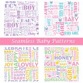 Baby Seamless Typography Pattern