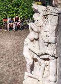Detail Statue im Park in Wien, Österreich