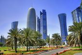 stock photo of qatar  - The skyline of the modern and high - JPG