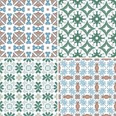 picture of por  - Set of four seamless pattern illustrations  - JPG