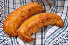 pic of crescent-shaped  - Traditional Hungarian folk xmas walnut crescent shape sweet cake  - JPG