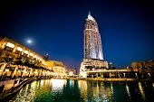 DUBAI, UAE - DECEMBER 15: Address Hotel in Dubai. The hotel is 63 stories high and feature 196 lavis