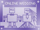 Online Wedding Joke Illustration