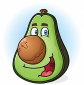 Avocado Cartoon Character