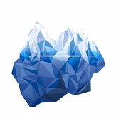 stock photo of iceberg  - Iceberg in low poly style - JPG