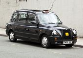 Liverpool, England - July 12, 2011: Typical british taxi cab manufactured by LTI (London Taxi Intern