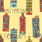 Seamless amsterdam holland background