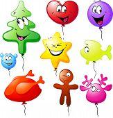 Funny Xmas Colorful Balloons