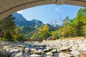 picture of seoraksan  - Mountain river view of the  Seoraksan National Park - JPG