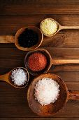 stock photo of salt-bowl  - Himalayan Pink Crystal Rock salt