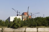 Constuction plant of nuclear reactor 5 and 6, which was abandoned after nuclear disaster in Chernoby
