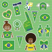 Brazil Supporter Stickers