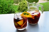 stock photo of pitcher  - Sangria  - JPG