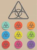 picture of biohazard symbol  - Warning symbol biohazard  - JPG