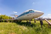 Samara, Russia - May 25, 2014: Old Russian Aircraft Yak-42 At An Abandoned Aerodrome In Summertime