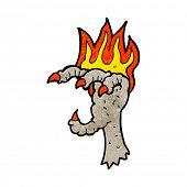 cartoon spooky claw