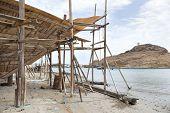 image of shipbuilding  - Image of traditional handiwork shipbuilding Sur Oman - JPG