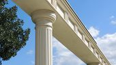Colonnade in a park.