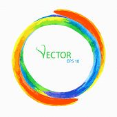 Vector Rainbow Circle For Design