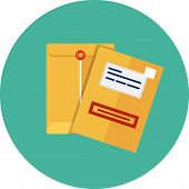 stock photo of manila paper  - Vector manila envelope  - JPG