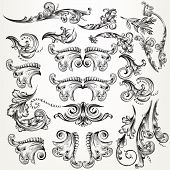 Collection Of Vector Swirls For Design