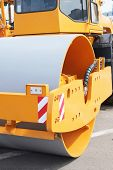 road roller under the white background