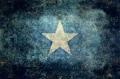 The national flag of Somalia distressed version