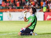 Sisaket Thailand-june 8: Lucas Daniel Of Sisaket Fc. In Action After The Game Of Thai Premier League