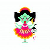 stock photo of shakti  - abstract Hindu  goddess kali religion cult india - JPG