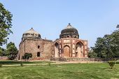 Panorama Of Humayuns Tomb Taken In Delhi - India
