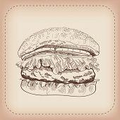 hamburger vector hand drawn