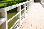 Old retro wooden bridge