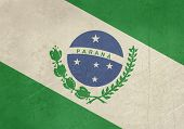 Grunge state flag of Parana in Brazil.