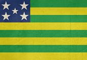 Grunge state flag of Goias in Brazil.