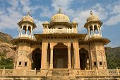 pic of gator  - Memorial grounds to Maharaja Sawai Mansingh II and family constructed of marble - JPG
