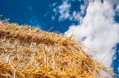 straw bales, cloud cover