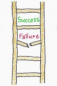 Success Failure Ladder Concept